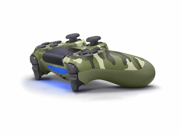 Sony PlayStation 4 DualShock 4 V2 wireless controller angle camo green