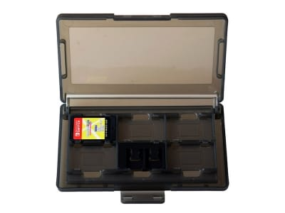 Switch 12 Game Storage Case open black